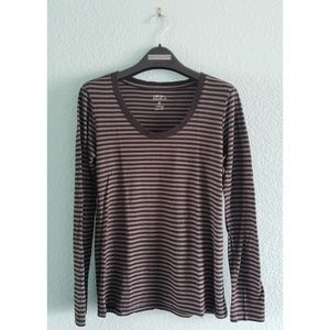 Foreign Exchange | Striped Scoop Neck Long Sleeve